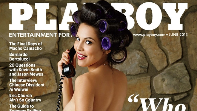 Raquel Pomplun is seen on the June 2013 Playboy cover. Playboy