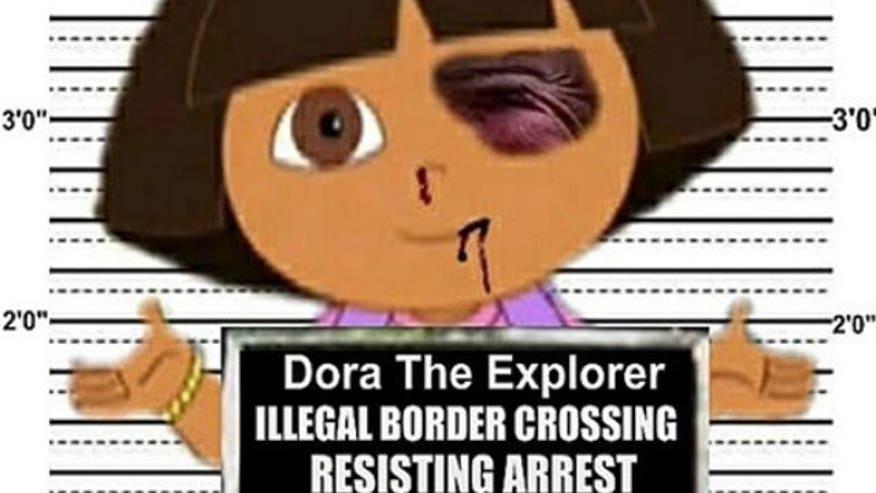 "Dora the Explorer's alleged crime? ""Illegal Border Crossing Resisting ..."