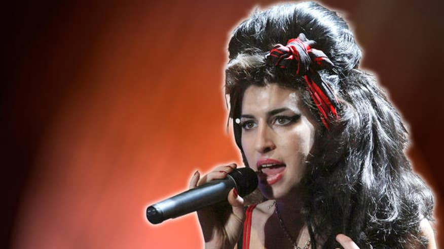 Amy Winehouse Red Background