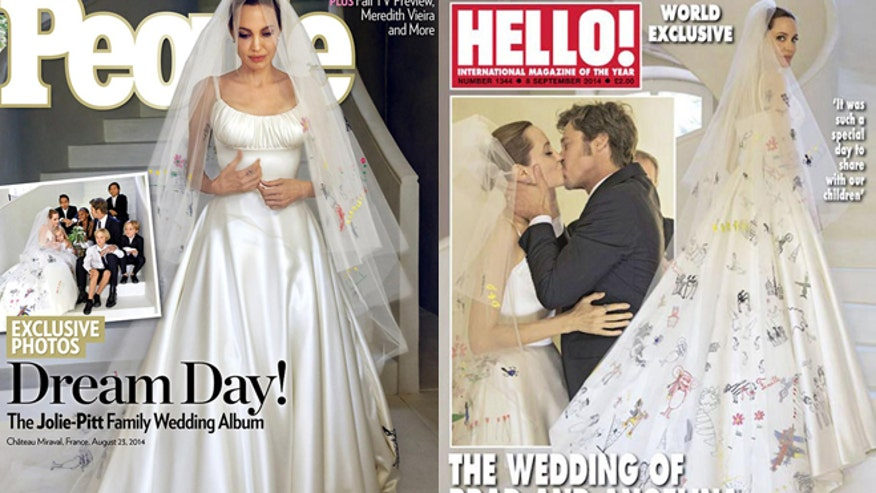 First Photos From Brad Pitt And Angelina Jolie's Wedding