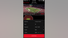 Gametime allows users to buy discounted tickets for sporting events on their mobile phones, no printing required.