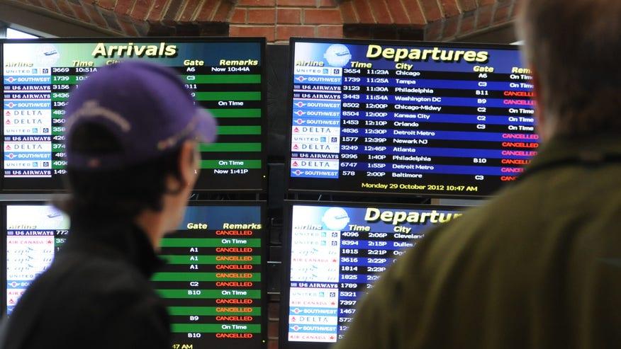 Hurricane Sandy Albany Airport Delays