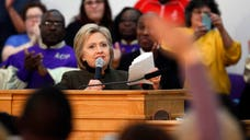 Democratic presidential candidate Hillary Clinton demanded on Sunday that Congress approve $ million in emergency aid to address Flint, Michigan's battle with lead-contaminated water.