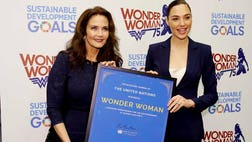 The super heroine's image will be used by the U.N. on social media platforms to promote women's empowerment, including material about gender-based violence and the fuller participation of women in public life with the hashtag WithWonderWoman.