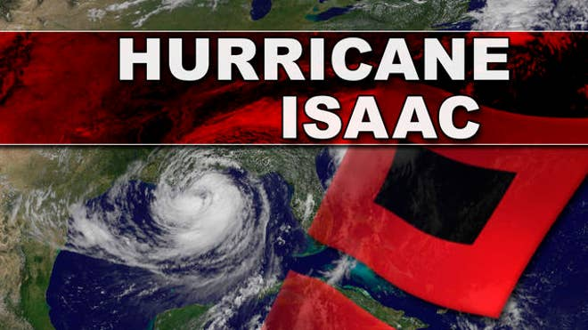 weather channel on hurricane isaac