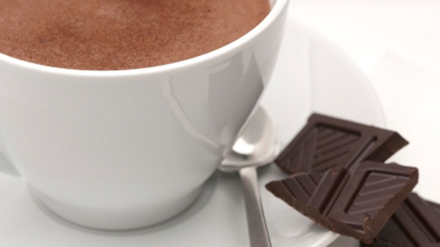 Hot Chocolate and Dark Chocolate Pieces