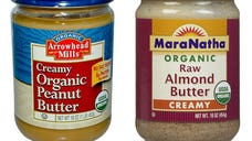 A unit of Hain Celestial Group Inc. is recalling some peanut and almond butter because of possible salmonella contamination