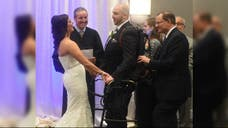 New York resident Matt Ficarra has been paralyzed from the chest down since an accident three years ago, but that didn't stop him from walking down the aisle.
