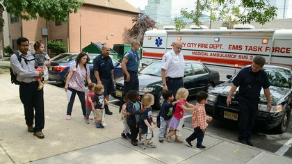 More than two dozen children and two adults accidentally drank a mixture of bleach and water at a day care center Thursday and were briefly hospitalized.