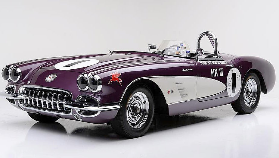 Purple People Eater Corvette races to auction