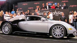 Barrett-Jackson's marquee sale of an exotic Bugatti Veyron in Las Vegas turned into soap opera Saturday when the winning bidder backed out of the sale, leaving the auction company holding the bag for a $, sale.