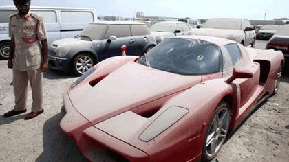 The Dubai police department possesses a treasure, but it can't cash it in.