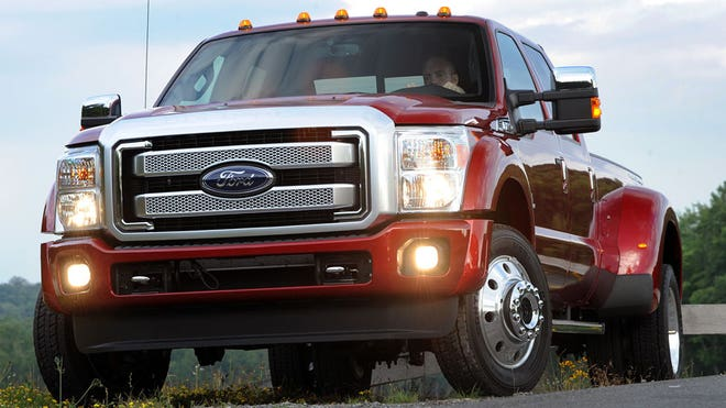 Ford's heavy duty trucks are lightening up.