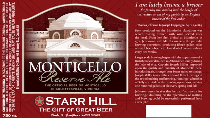 Monticello Reserve Ale