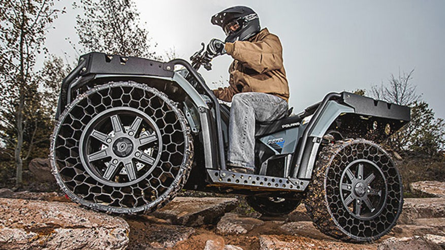 Polaris ATV with airless tires hits the road | Fox News
