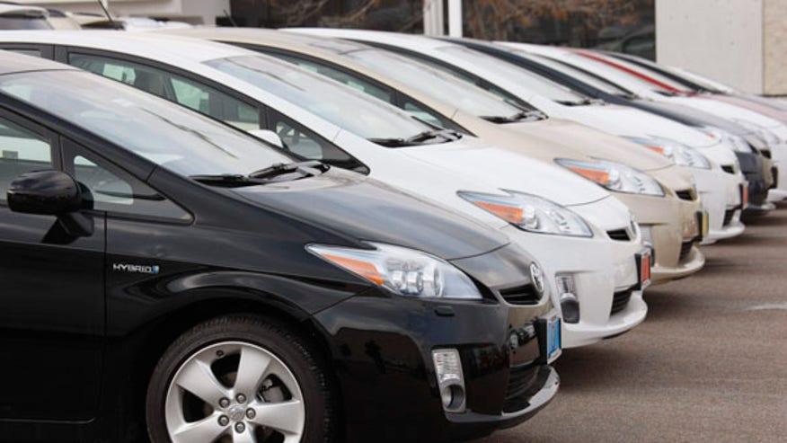 Fleet of Toyotas