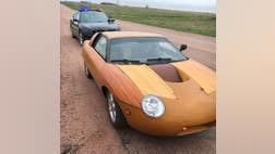 A Nebraska trooper on Thursday pulled over an odd-looking sports car -- one that could have given him a splinter if he wasn't careful.