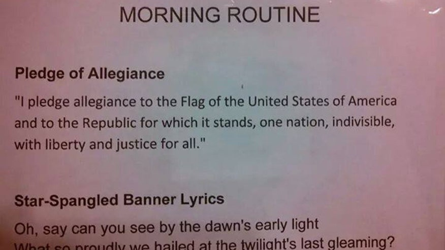 Teacher omits God from Pledge of Allegiance
