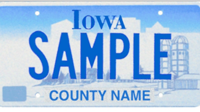 In Iowa A License Plate Frame Gets Drivers Tagged By