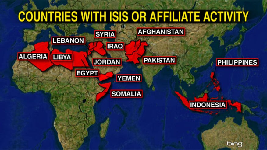 Contries with ISIS or Affiliate Activity - Stening Simpson