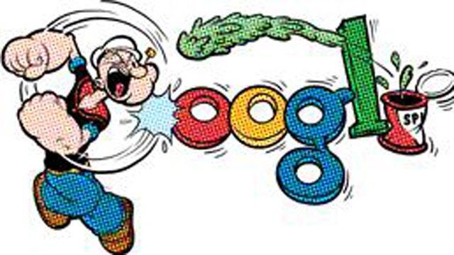 Google Popeye Logo