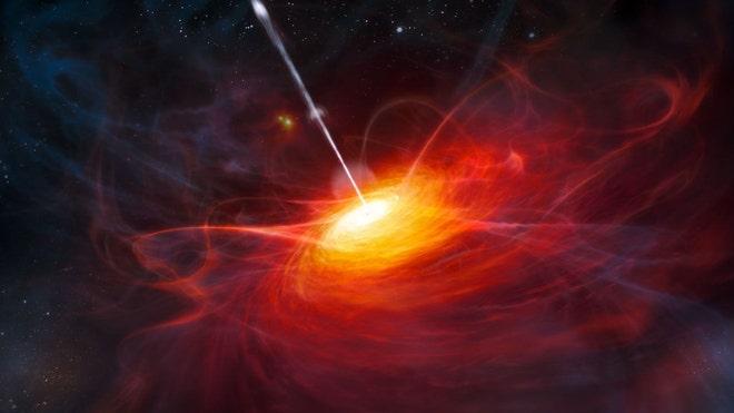 Типичный квазар. Рисунок.