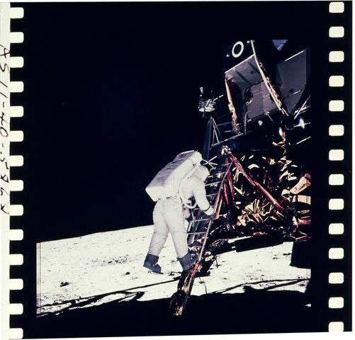 Apollo 11 color hasselblad film positives