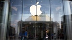 Shares of Apple Inc. fell below $ for the first time in a year and half on Wednesday, after a supplier hinted at a slowdown in iPhone and iPad production.