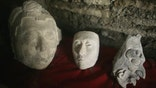 Ceramic Heads in Tomb