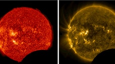 On July , NASA's Solar Dynamics Observatory (SDO) noticed something peculiar about its normally uninterrupted view of the sun — a chunk was missing.