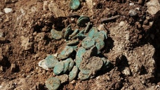 A ,-year-old treasure trove was discovered in Israel.