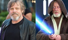 Star Wars' Mark Hamill looked grizzly with a beard.