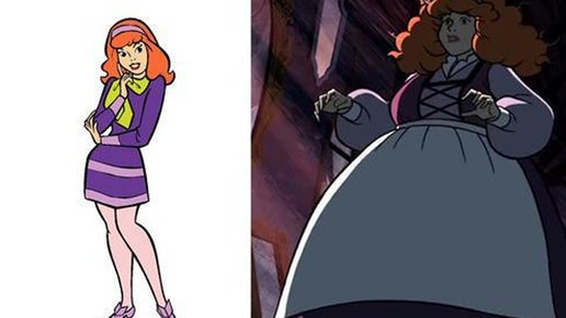 In the latest direct-to-video Scooby-Doo installment, Daphne is subjected to a curse where she jumps from a size  to a size  in seconds.