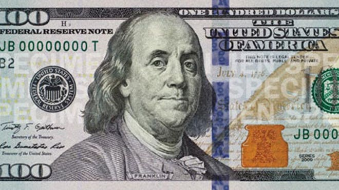 Benjamin Franklin gets a face-lift; redesigned high-tech $100 bill to circulate tomorrow