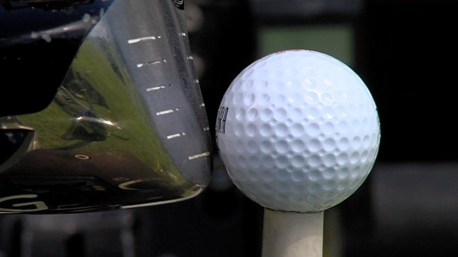 Banned but awesome: golf ball flies straight