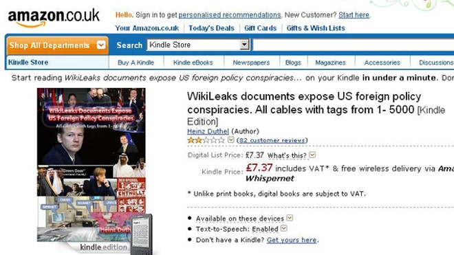 Amazon Wikileaks