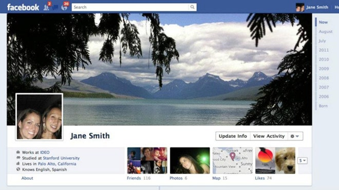 Facebook new feature Timeline 2
