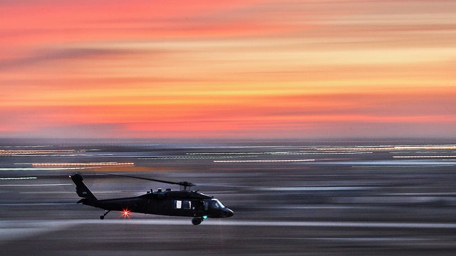 Black Hawk at Dusk