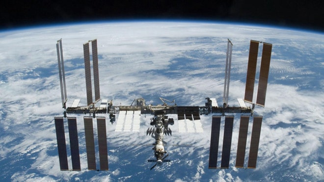 International Space Station docking 2009