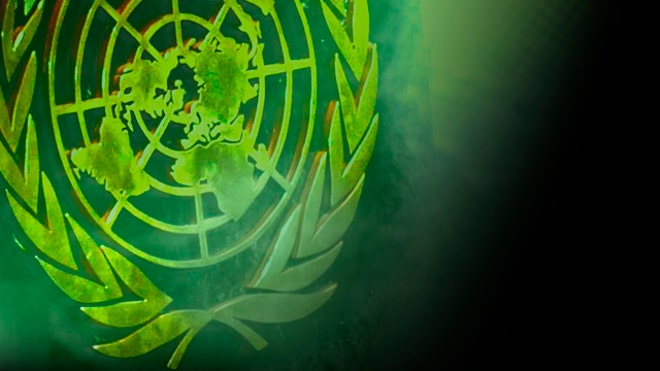 United Nations logo green