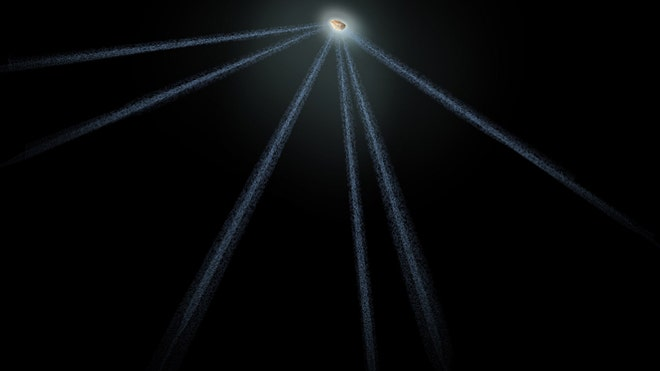 Lawn sprinkler in space? NASA's Hubble spies asteroid spouting six comet-like tails