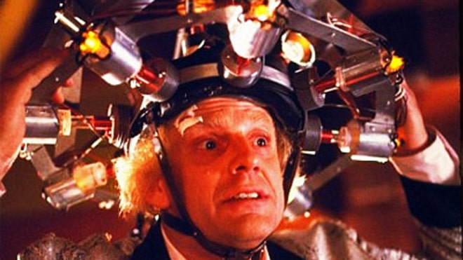 Back to the Future Doc Brown helmet