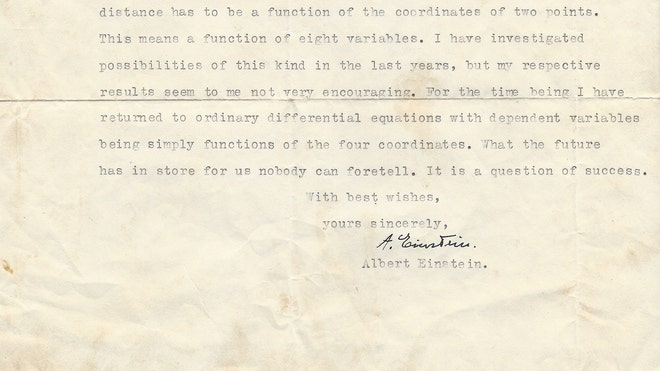 Einstein Letters for Sale