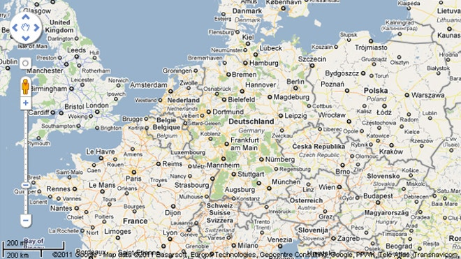 Map Of Holland And Germany.Map Of Germany And Holland