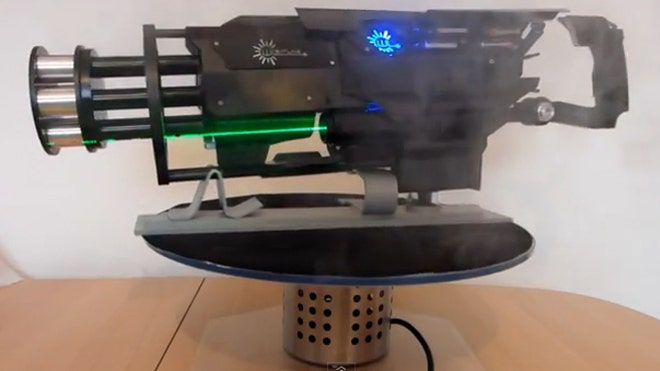 Laser gatling gun a real blast