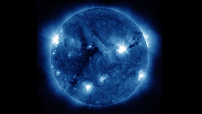 Blue Sunspot