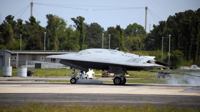 X-47B: the Navy's UFO-like stealth drone passes a milestone