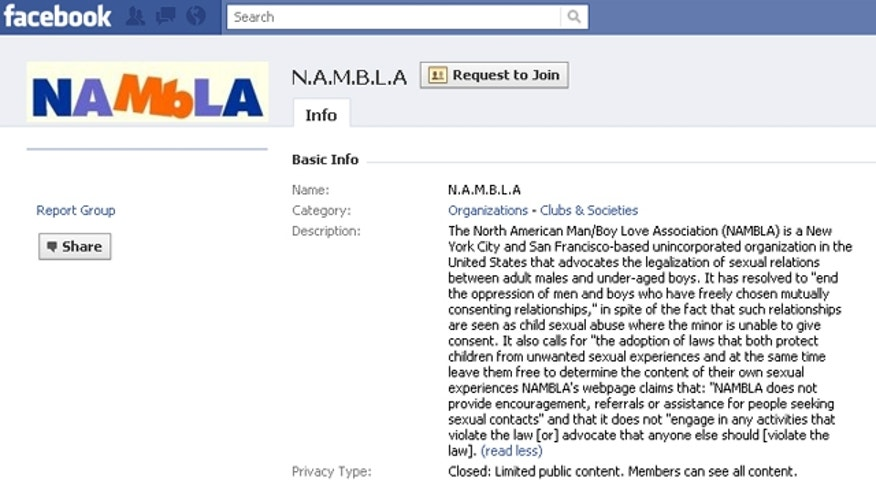 NAMBLA Facebook