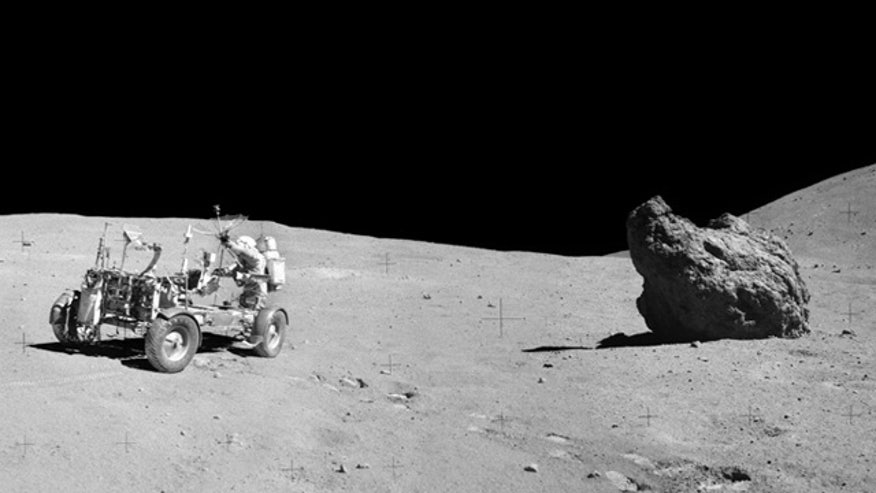 astronauts find structures on moon -#main