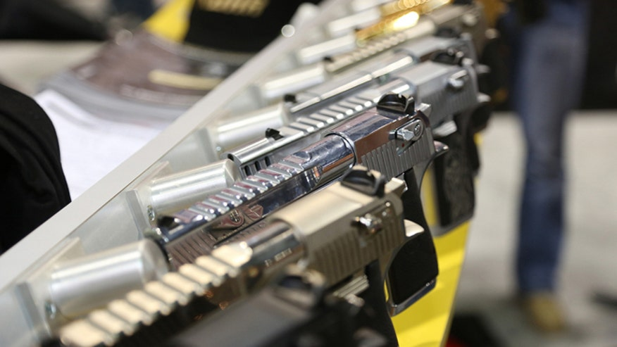 gun display at SHOT SHOW 2014.jpg